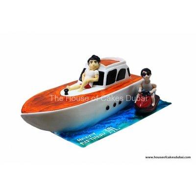 Boat and jet ski cake