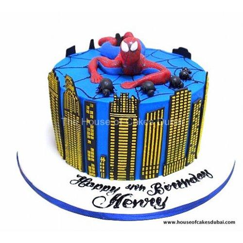Spiderman cake 8