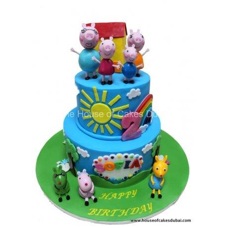 Peppa pig cake 9