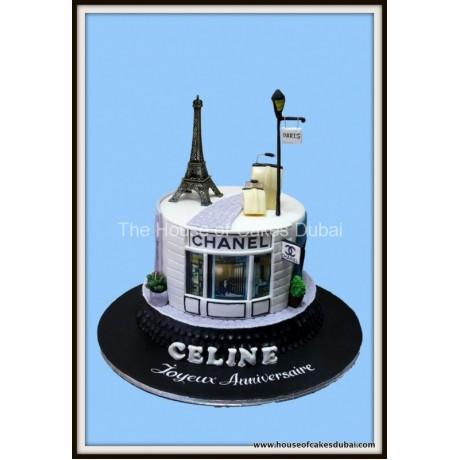 Shopping in Paris cake