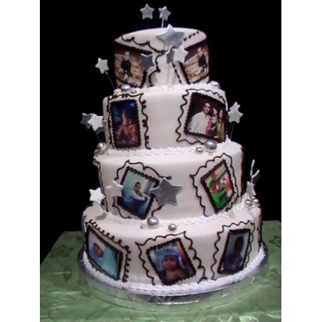 Sweet memories cake with photo