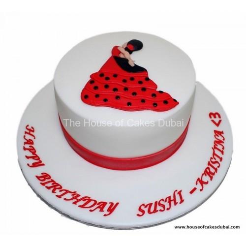 flamenco dancer cake 7