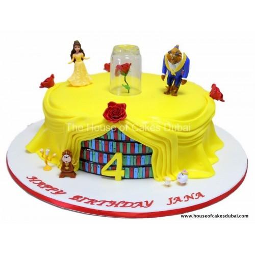 Beauty and the beast cake 1