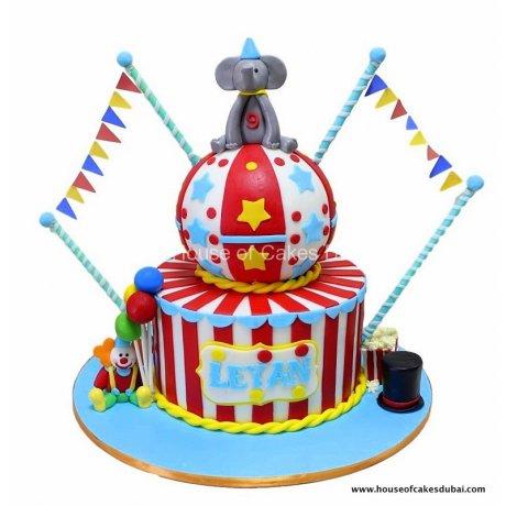 circus cake 7 6