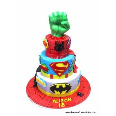 Superheroes cake 30