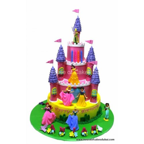 disney princesses castle cake 6 8