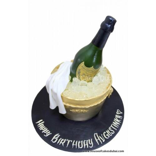 Champagne Dom Perignon cake 2
