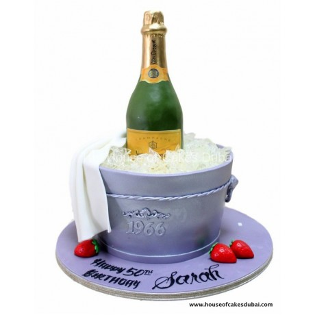 champagne in bucket cake 6