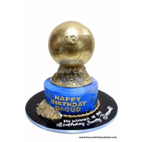 fifa ballon d'or - golden ball cake 6