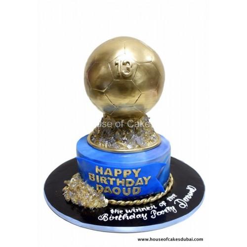 fifa ballon d'or - golden ball cake 7