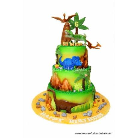 Dinosaur Jurassic cake 5