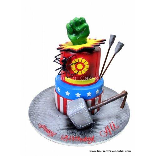 Superheroes avengers cake 21