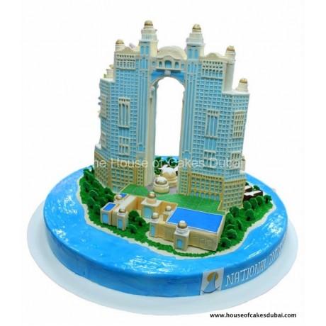 fairmont marina building cake 7