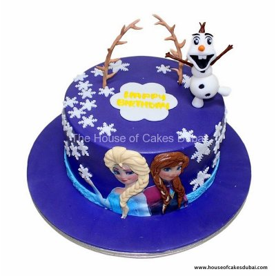 Frozen theme cake 33