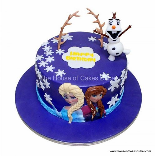 frozen theme cake 33 7