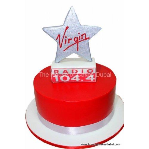 Virgin radio cake