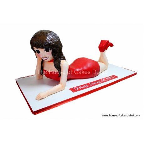3d woman cake 6