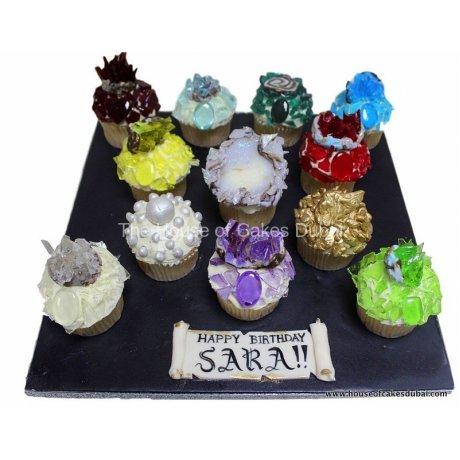 gemstones cupcakes 12