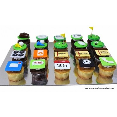 Apps and golf cupcakes