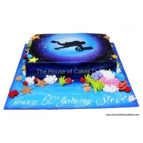 diver cake 4 6