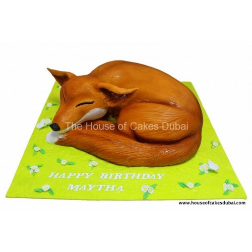 fox shape cake 7