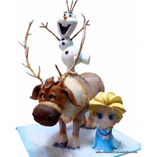 3D Frozen theme cake