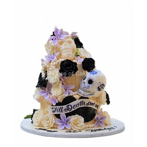 cake with skulls - till death parts us 7
