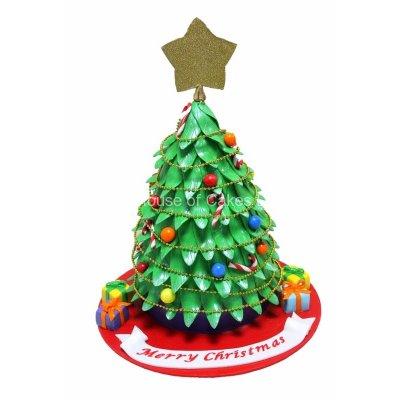Christmas tree cake 1