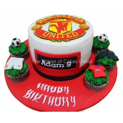 Wondrous Manchester United Cake 6 Birthday Cards Printable Nowaargucafe Filternl