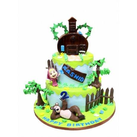masha and the bear cake 2 6
