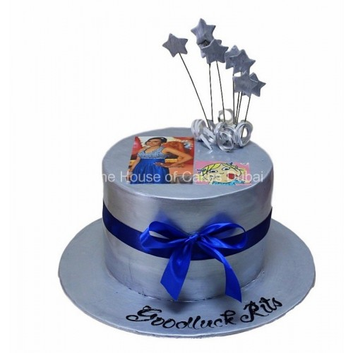 Silver cake with photo