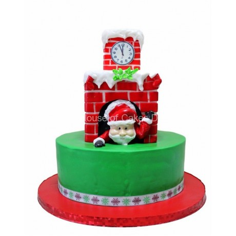 santa clause is coming cake 6