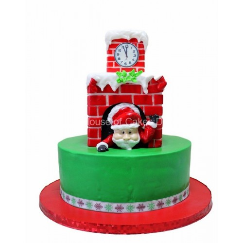 Santa Clause is coming cake