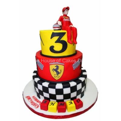 Ferrari theme cake
