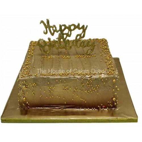 gold birthday cake 7