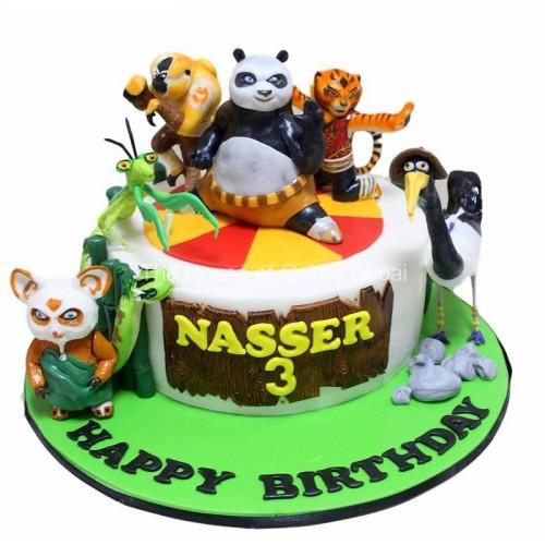 Awe Inspiring Kung Fu Panda Cake 2 Funny Birthday Cards Online Alyptdamsfinfo