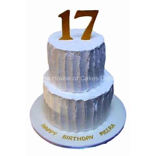Birthday Cake with cream frosting