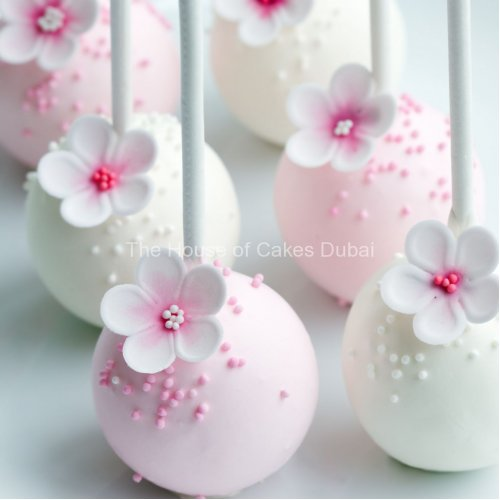 pretty pink and white cake pops 7