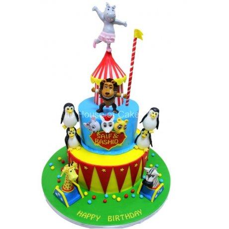 circus cake with animals 6