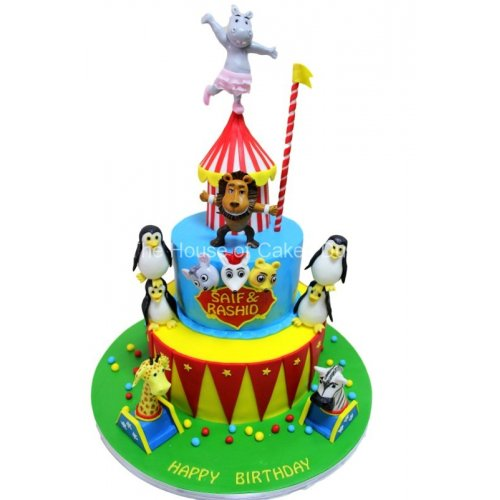 circus cake with animals 8