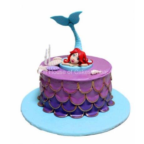 Ariel mermaid cake 17