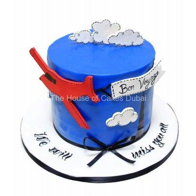 Bon Voyage farewell cake
