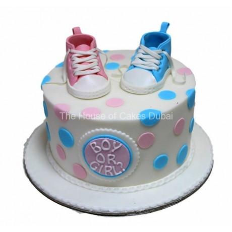 gender reveal cake 3 6