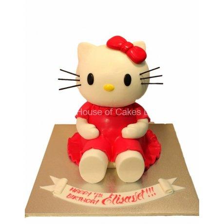 3D Hello Kitty Cake
