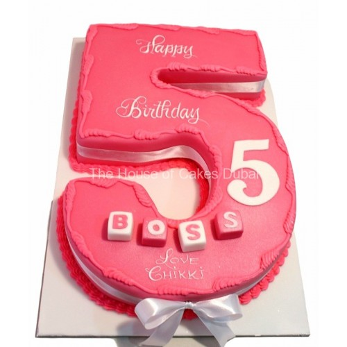 5th birthday pink cake