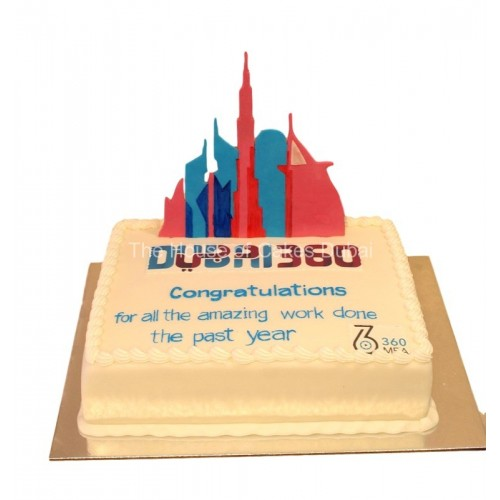 360 logo cake 2