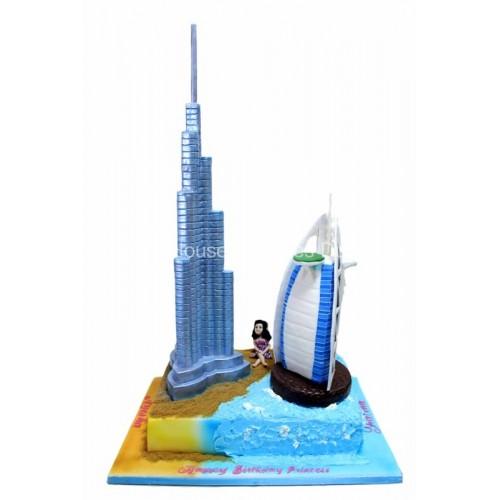 Burj Khalifa and Burj Al Arab Cake