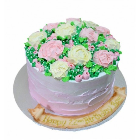 cake with cream flowers 2 6