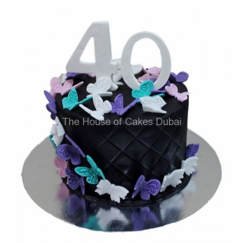 40th birthday cake with butterflies 7