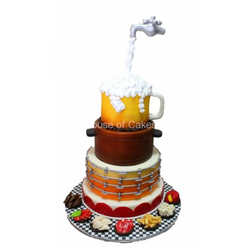 beer and appetisers cake 7